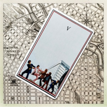 The Beatles Tarot - 5 of Wands